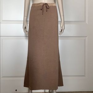J. Jill NWOT French Terry Brown Maxi Skirt